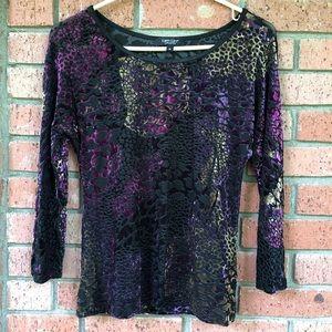 Karen Kane Lifestyle texture velvet long sleeve